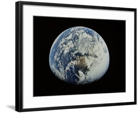 Earth-David Bases-Framed Art Print