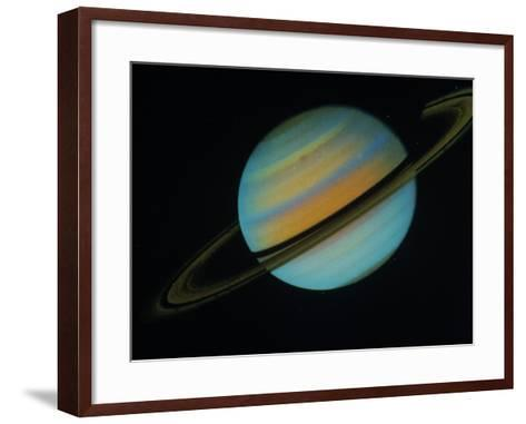 Saturn, Sixth Planet from the Sun-David Bases-Framed Art Print