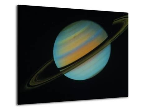 Saturn, Sixth Planet from the Sun-David Bases-Metal Print