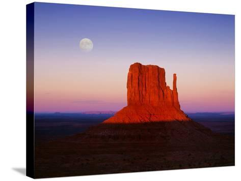 Moon Over Monument Valley, Arizona-Peter Walton-Stretched Canvas Print