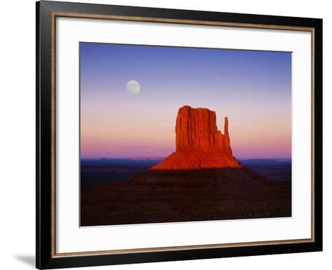 Moon Over Monument Valley, Arizona-Peter Walton-Framed Art Print