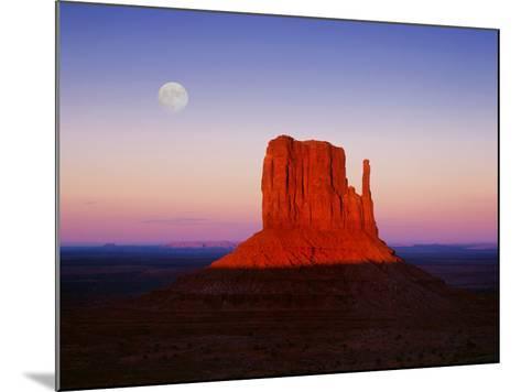 Moon Over Monument Valley, Arizona-Peter Walton-Mounted Photographic Print