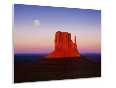 Moon Over Monument Valley, Arizona-Peter Walton-Metal Print