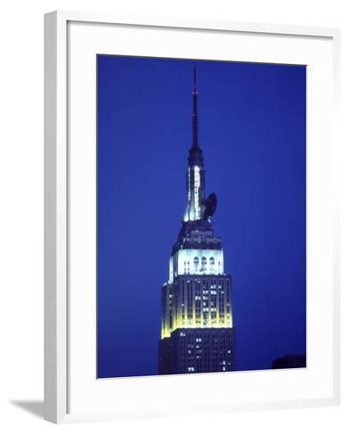 King Kong on Empire State Building, NYC,NY-Chris Minerva-Framed Art Print