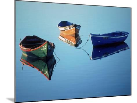 Moored Rowboats, Olhao, Portugal-Mitch Diamond-Mounted Photographic Print