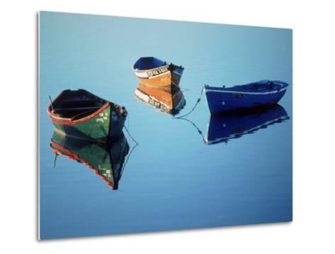 Moored Rowboats, Olhao, Portugal-Mitch Diamond-Metal Print