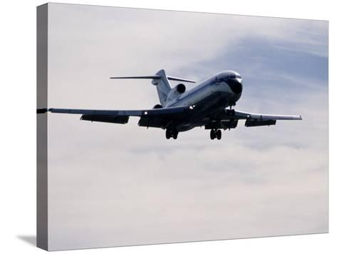 Airplane in Flight-David Harrison-Stretched Canvas Print