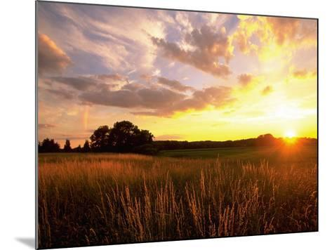Sunset Over Salt Marsh, Essex, MA-Kindra Clineff-Mounted Photographic Print