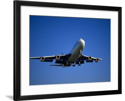 Commercial Airplane in Flight-Mitch Diamond-Framed Art Print