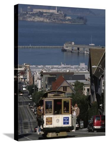 Cable CAr, Hyde Street, San Francisco, CA-Martin Fox-Stretched Canvas Print