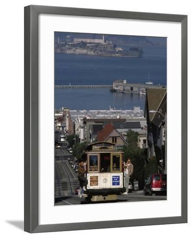 Cable CAr, Hyde Street, San Francisco, CA-Martin Fox-Framed Art Print
