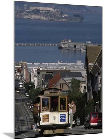 Cable CAr, Hyde Street, San Francisco, CA-Martin Fox-Mounted Photographic Print