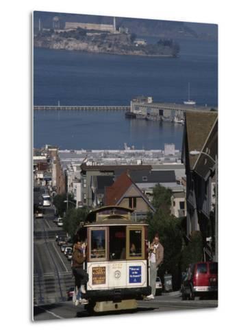 Cable CAr, Hyde Street, San Francisco, CA-Martin Fox-Metal Print