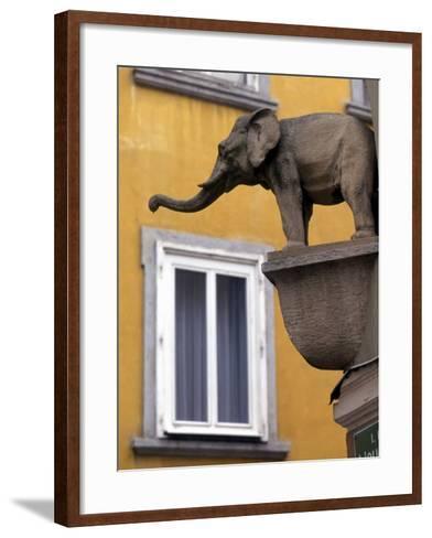 Architectural Detail, Steyr, Austria-Walter Bibikow-Framed Art Print