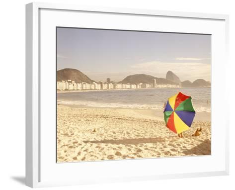 Copacabana Beach, Rio de Janeiro, Brazil-Silvestre Machado-Framed Art Print