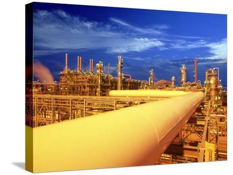 Union Carbide Factory, Kuwait-Lonnie Duka-Stretched Canvas Print