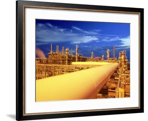 Union Carbide Factory, Kuwait-Lonnie Duka-Framed Art Print