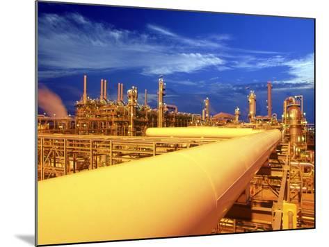 Union Carbide Factory, Kuwait-Lonnie Duka-Mounted Photographic Print