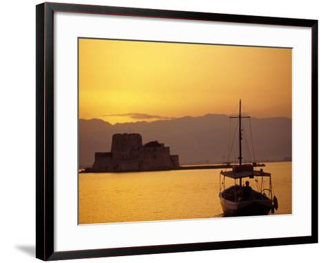 Bourtzi Island Fort, Nafplio, Peloponnesos, Greece-Walter Bibikow-Framed Art Print