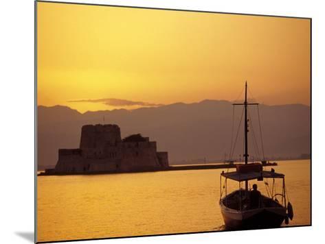 Bourtzi Island Fort, Nafplio, Peloponnesos, Greece-Walter Bibikow-Mounted Photographic Print
