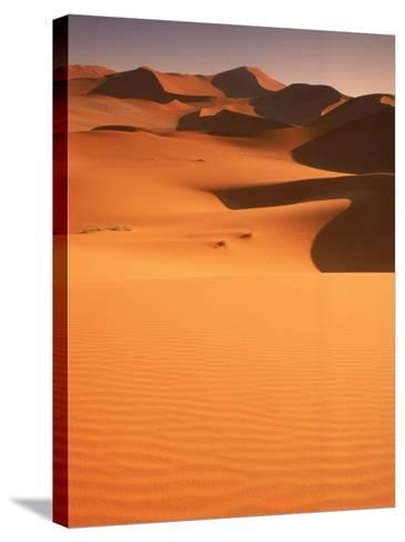 Sand Dunes, Namibia-Peter Adams-Stretched Canvas Print