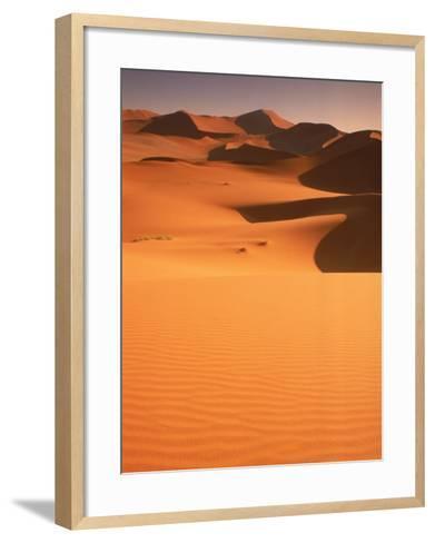 Sand Dunes, Namibia-Peter Adams-Framed Art Print