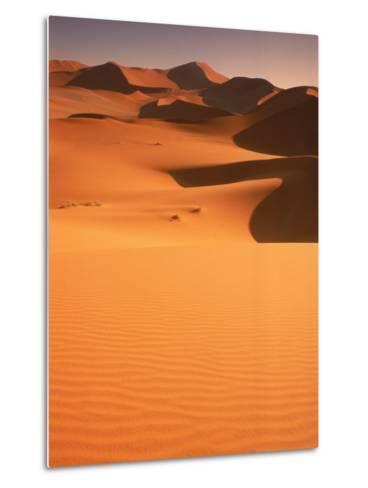 Sand Dunes, Namibia-Peter Adams-Metal Print