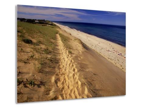 Bluff Above Maguire Landing, Cape Cod, MA-Jeff Greenberg-Metal Print
