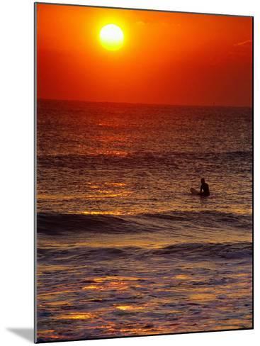 Surfer at Sunrise, FL-Jeff Greenberg-Mounted Photographic Print