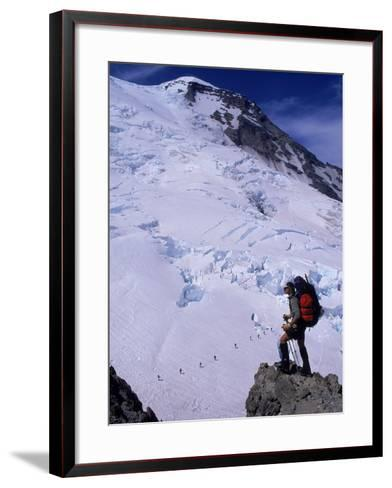 Emmons Glacier on Mt. Rainier, Washington-Cheyenne Rouse-Framed Art Print