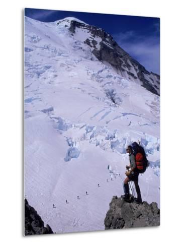 Emmons Glacier on Mt. Rainier, Washington-Cheyenne Rouse-Metal Print
