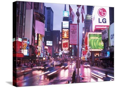Times Square at Night, NYC, NY-Rudi Von Briel-Stretched Canvas Print