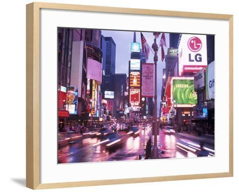 Times Square at Night, NYC, NY-Rudi Von Briel-Framed Art Print
