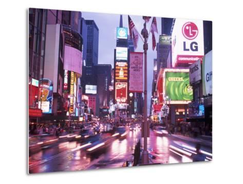 Times Square at Night, NYC, NY-Rudi Von Briel-Metal Print