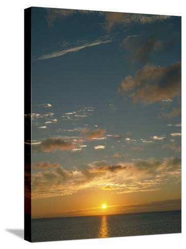 Sunset Over Ocean, HI-Steven Baratz-Stretched Canvas Print