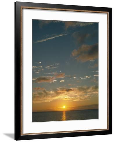 Sunset Over Ocean, HI-Steven Baratz-Framed Art Print