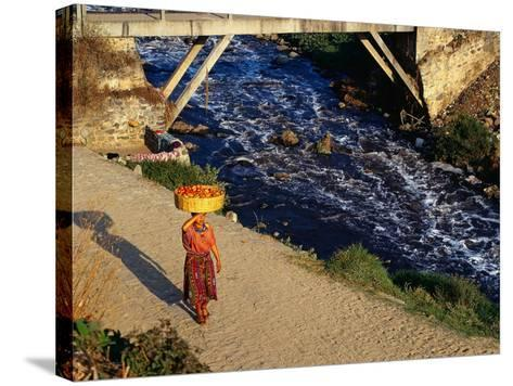 Walking Home from Market, Zunil, Guatemala-Sandy Ostroff-Stretched Canvas Print