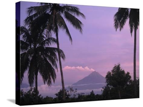 Active Volcano, Merapi from Borobodur, Indonesia-Sandy Ostroff-Stretched Canvas Print