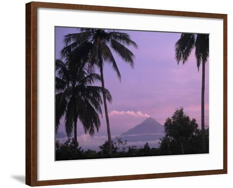 Active Volcano, Merapi from Borobodur, Indonesia-Sandy Ostroff-Framed Art Print