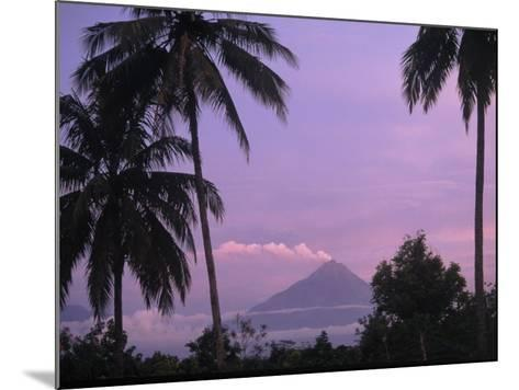 Active Volcano, Merapi from Borobodur, Indonesia-Sandy Ostroff-Mounted Photographic Print