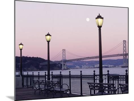 Street Lamps with Bridge in the Background-Robin Allen-Mounted Photographic Print