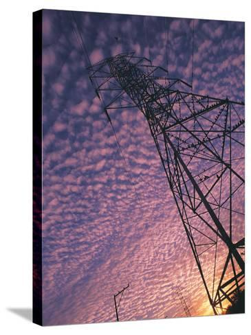 Power Line Tower-Mitch Diamond-Stretched Canvas Print