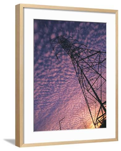 Power Line Tower-Mitch Diamond-Framed Art Print