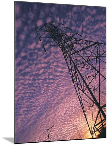 Power Line Tower-Mitch Diamond-Mounted Photographic Print