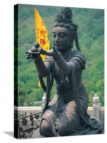 Statue of Disciple of Tian Tan Buddha-Stewart Cohen-Stretched Canvas Print