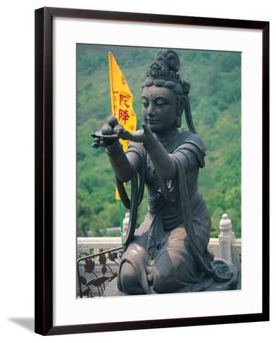 Statue of Disciple of Tian Tan Buddha-Stewart Cohen-Framed Art Print