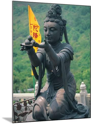 Statue of Disciple of Tian Tan Buddha-Stewart Cohen-Mounted Photographic Print
