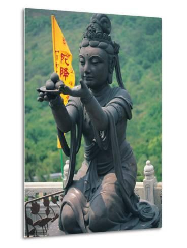 Statue of Disciple of Tian Tan Buddha-Stewart Cohen-Metal Print