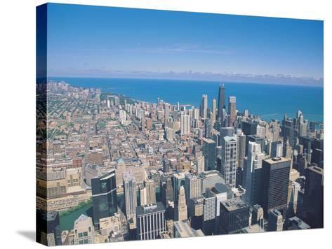 Aerial View of Chicago, Illinois-Jim Schwabel-Stretched Canvas Print