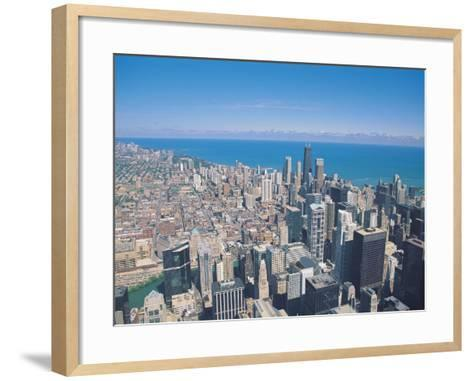 Aerial View of Chicago, Illinois-Jim Schwabel-Framed Art Print
